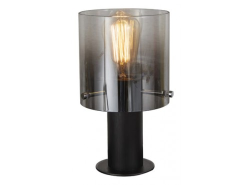 TABLE LAMP VINTAGE STYLE FADING SMOKE GLASS