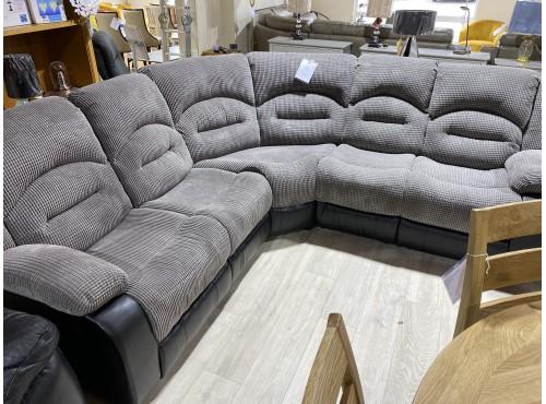 Hughie Doyle Furniture ¦ Gorey ¦ Novella Bubble Corner Sofa Grey