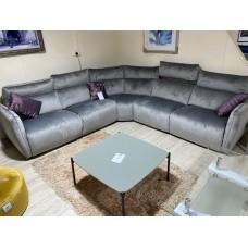 5895M Corner Sofa Silver