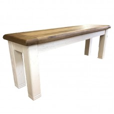 Danube Weathered Oak Bench 1400mm