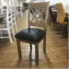 Cologne Dining Chair With Leather Seat