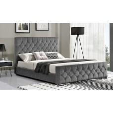 Carina Fabric Bed - 4' 6 - Silver