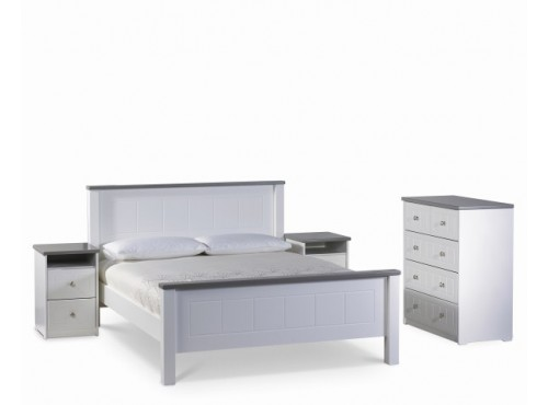 Hughie Doyle Furniture ¦ Gorey ¦ Carlow ¦ Wexford ¦ Chateau white single 3ft Bed Beds & Bedframes