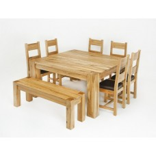 Linc 1.5M Square Solid Oak Dining Table