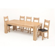 Linc 2.6M Solid Oak Dining Table