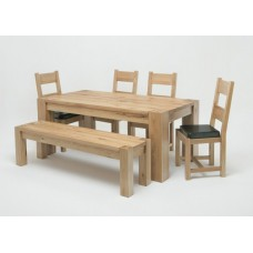 Linc 1.5M Solid Oak dining Table
