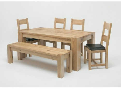 Hughie Doyle Furniture ¦ Gorey ¦ Carlow ¦ Wexford ¦ Linc 1.5M Solid Oak dining Table Dining Sets