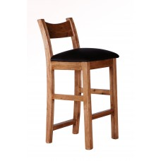 Provence bar stool leather seat
