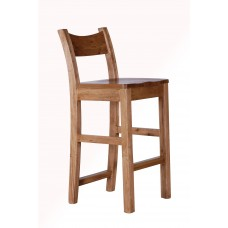 Provence bar stool timber seat