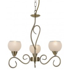 Amalia 3 Light Antique Brass