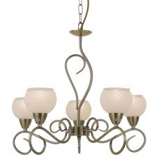 Amalia 5 Light Antique Brass